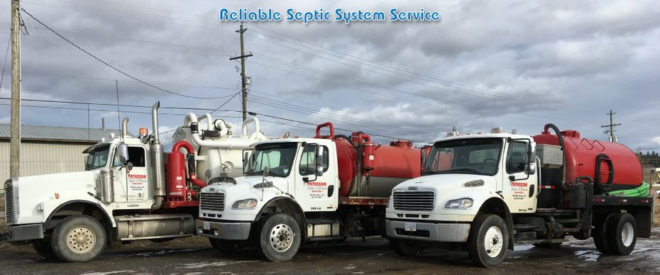 Reliable Septic System Service; trucks